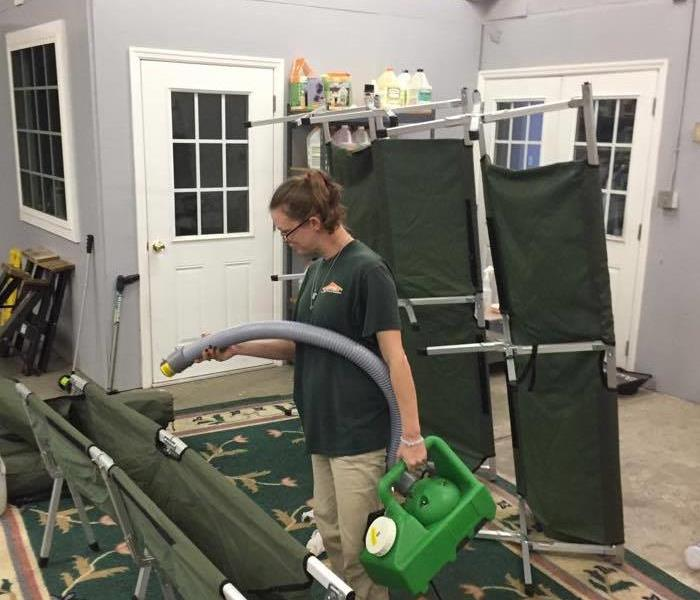 Cot cleaning after hurricane matthew